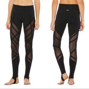 ALO High Waist Stirrup Legging SMALL Black NWT